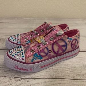 Skechers Twinkle Toes Girls Size 1.5 Pink Sneakers